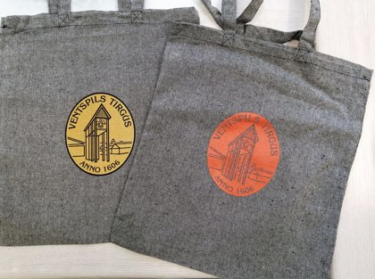 Auduma maisiņš ar Ventspils tirgus logo